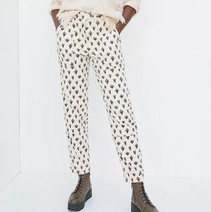 Anthropologie Fleurette Corduroy Pants Ivory